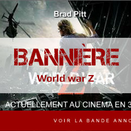 The world war Z: Bannière pub